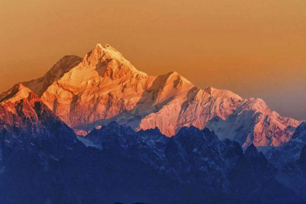 Sunset on the Himalayas