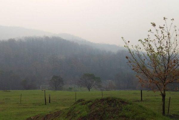 Smoke again visible