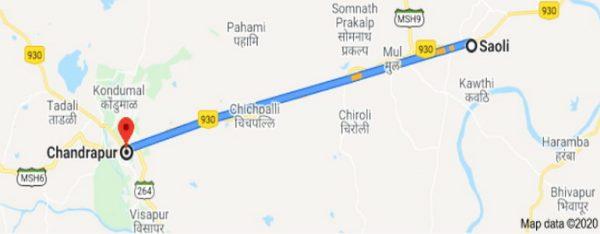 Busride Chandrapur to Saoli
