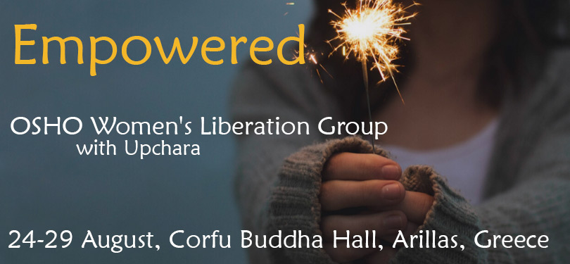Empowered Osho Woman's Liberation Group with Upchara