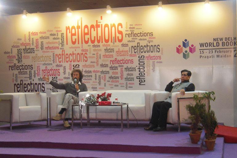 At the Delhi World Book Fair in 2014