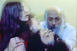 Osho giving energy darshan
