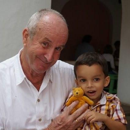 Murari with a child