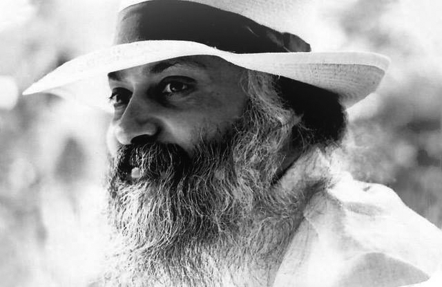 Osho with straw hat