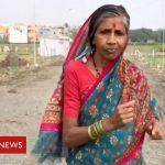 Running to save her husband