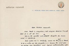 Osho's letter to Krishna Saraswati 17.9.1971`