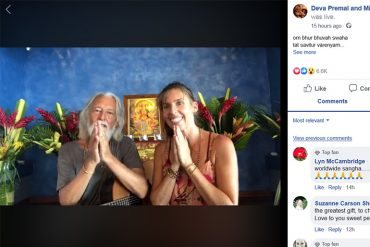 Deva Premal and Miten chanting on Facebook