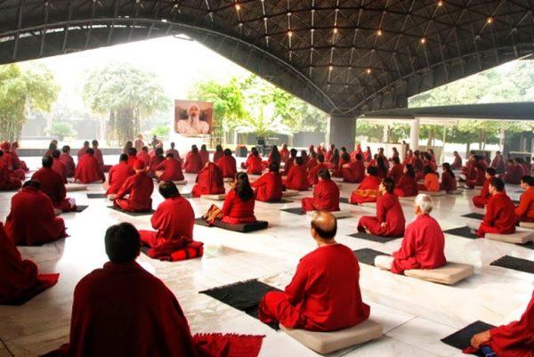Meditating at Oshodham