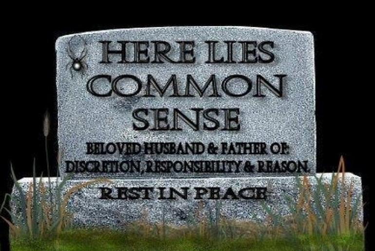 RIP Common Sense