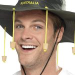 an Australian with cork hat