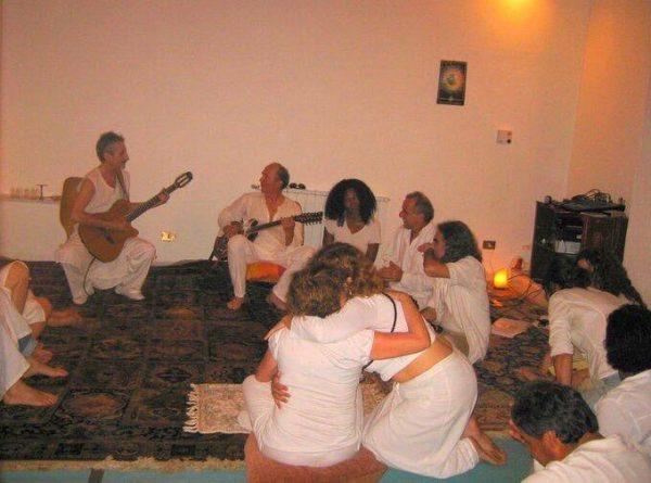 in-white-robe-meditation