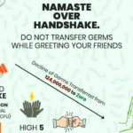 Namaste over Handshake
