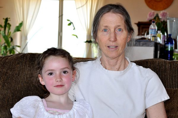June 2009, with granddaughter Avalon
