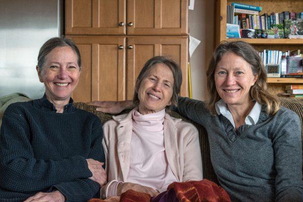 February 2015, with sisters Lynn and Stephanie