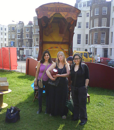 With Laila in Brighton 2012 at Amrit's send off