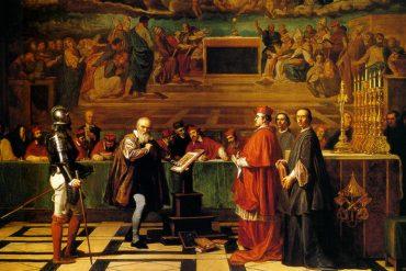Painting Galieo Galilei Roman Inquisition
