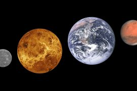 Mercury, Venus, Earth and Mars