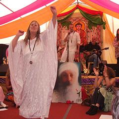 Sharmi celebrating her 30th sannyas birthday at Osho Leela UK