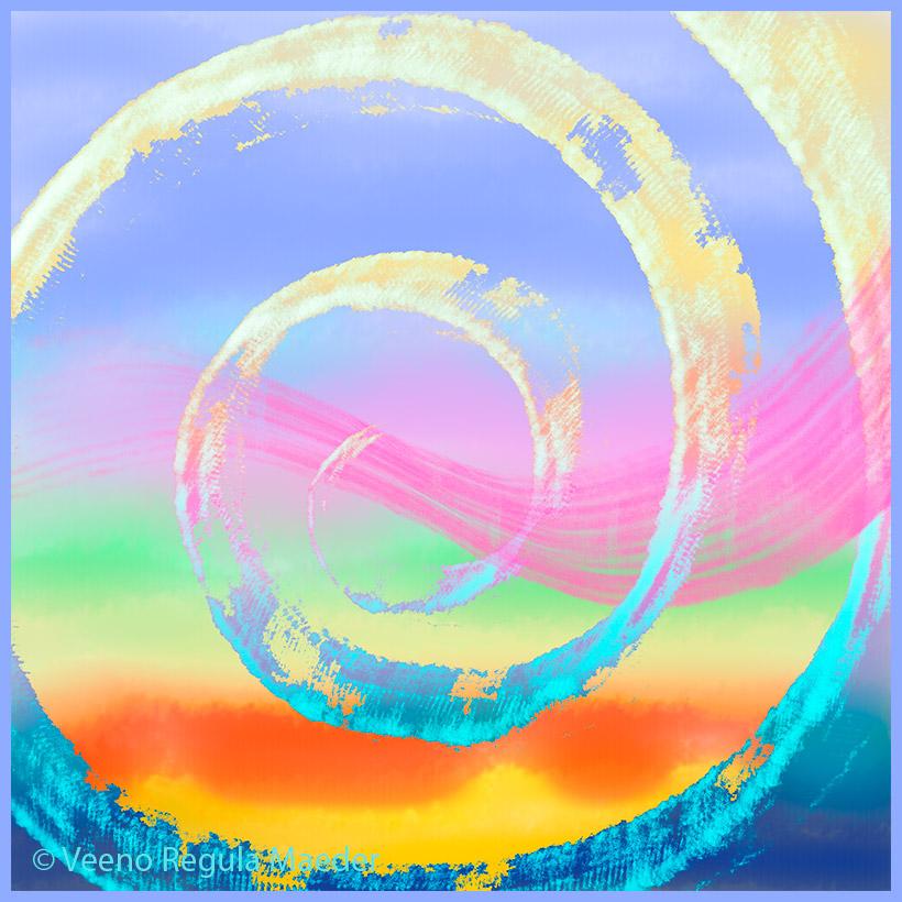 The Ace of Hearts: One-ness. Mandala by Veeno.