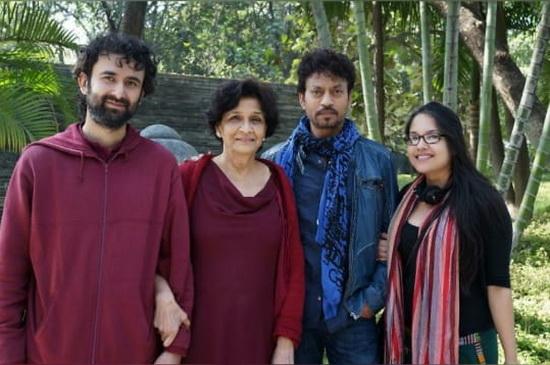 Irrfan Khan with Amrit Sadhana