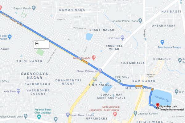 Jabalpur route