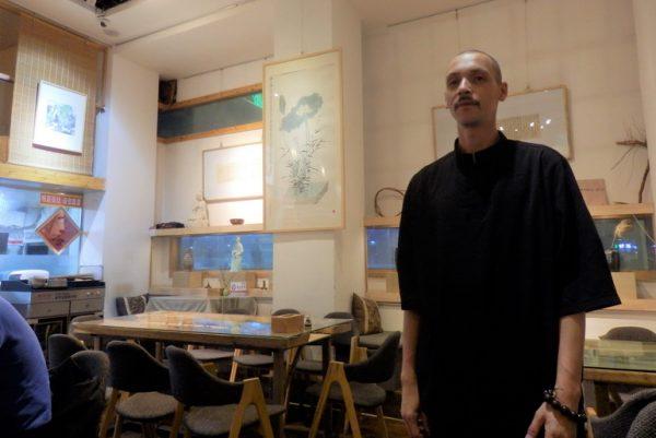 Michael at Buddhist restaurant