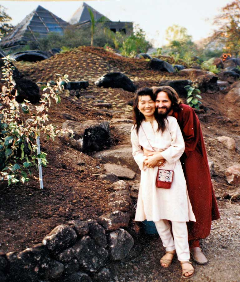 At the Pune Resort (Osho Teerth Park), 1991