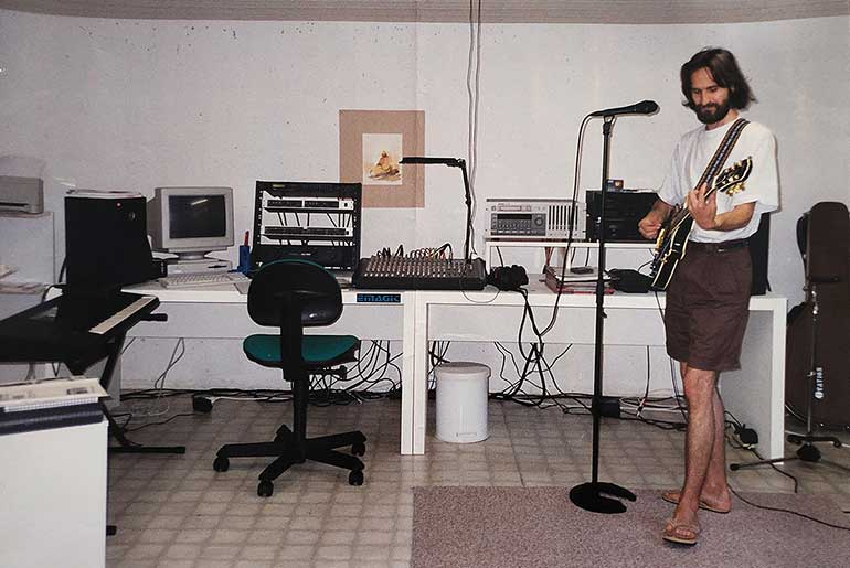 My recording studio in Switzerland, 1997