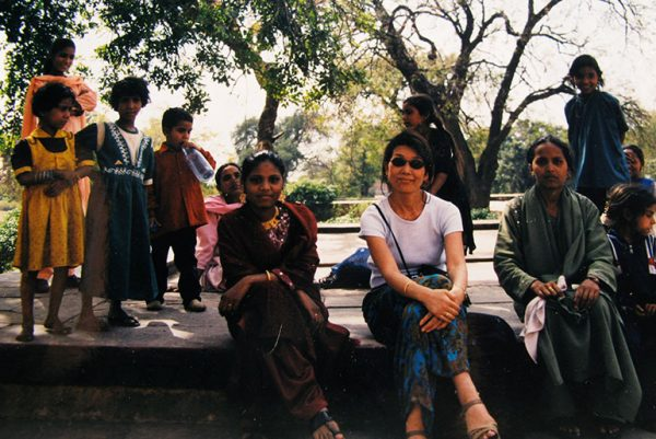 At the Taj Mahal, 2000