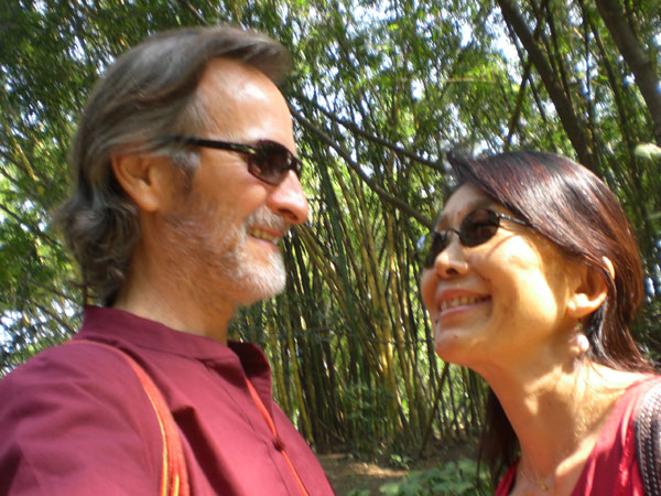 The following year with Deepa in India