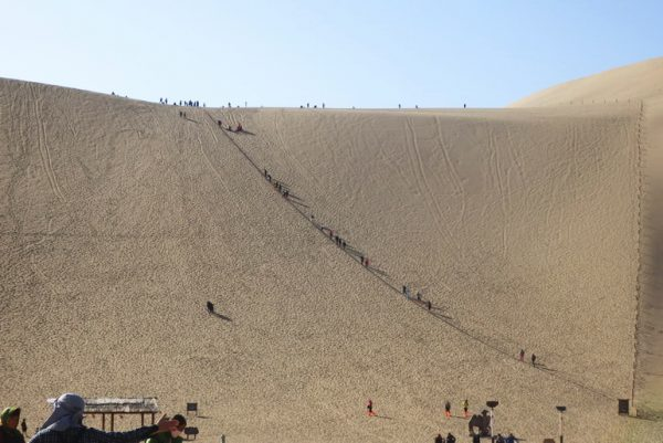 Dunes further away for tourists to climb