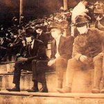 football stadium in 1918