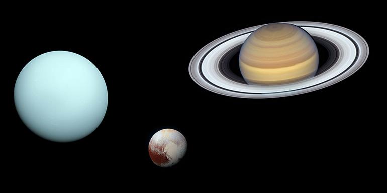 Uranus Pluto Saturn composite