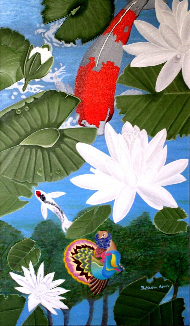 Mystic bird painting by Pratiksha Apurv
