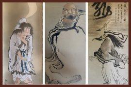 Japanese silk scrolls