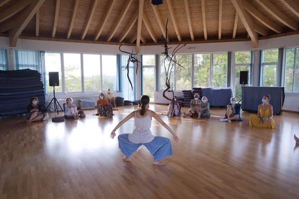 Performance, Silent Poems, in Corfu Buddha Hall