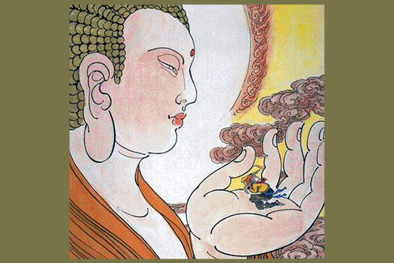 Buddha and Monkey king