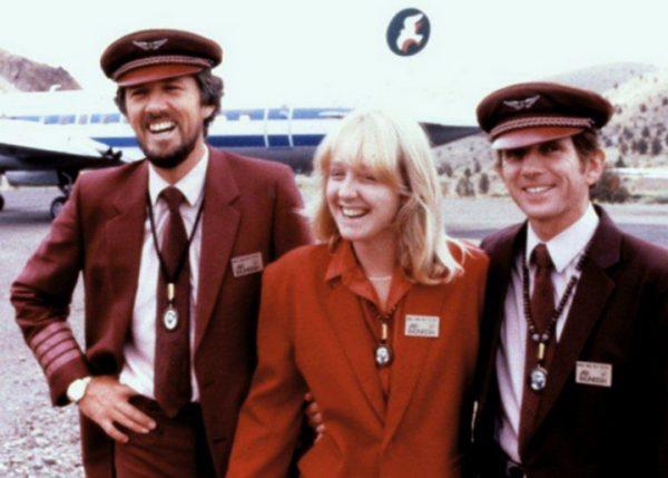 Prasad with stewardess and Cliff