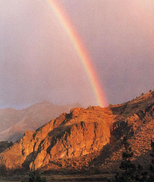 Rainbow over the ranch, Rajneeshpuram