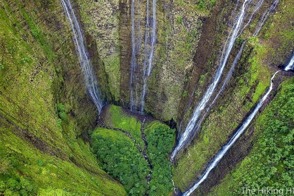 Drone shot of the waterfalls