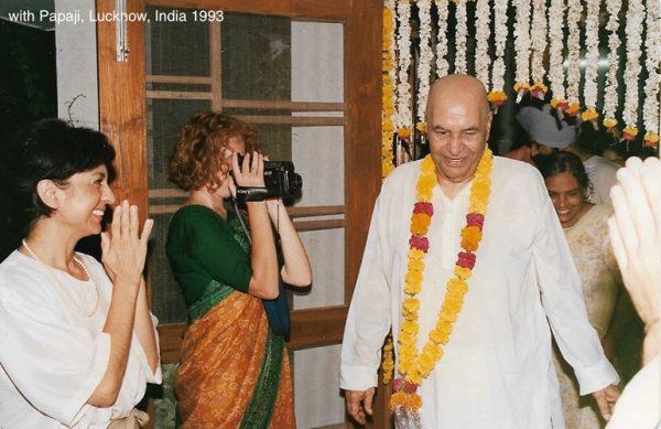 with Papaji, Lucknow 1992