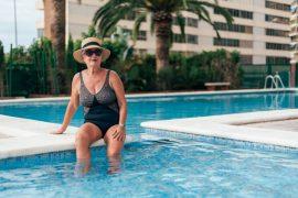 At swimming pool