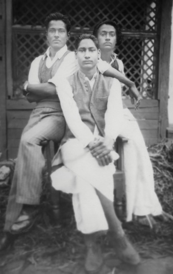 Osho and friends 1948
