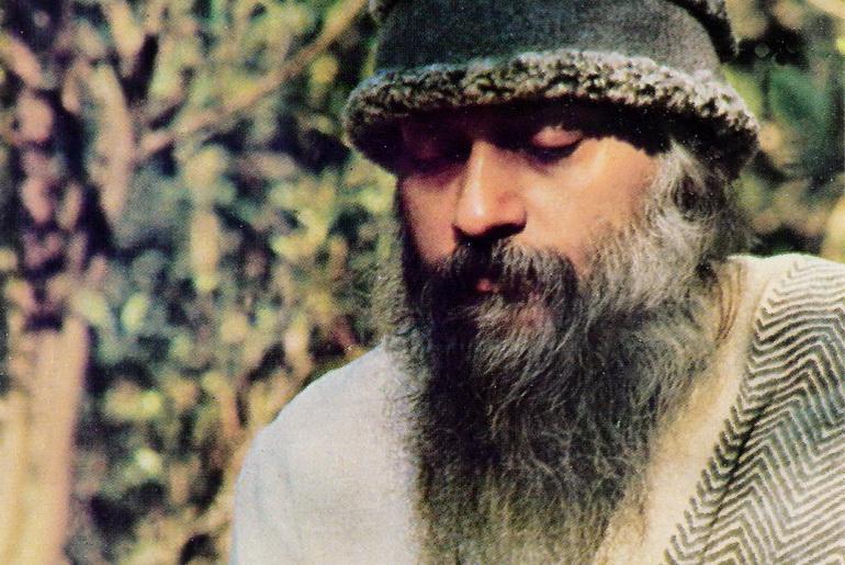 Osho in garden 1977