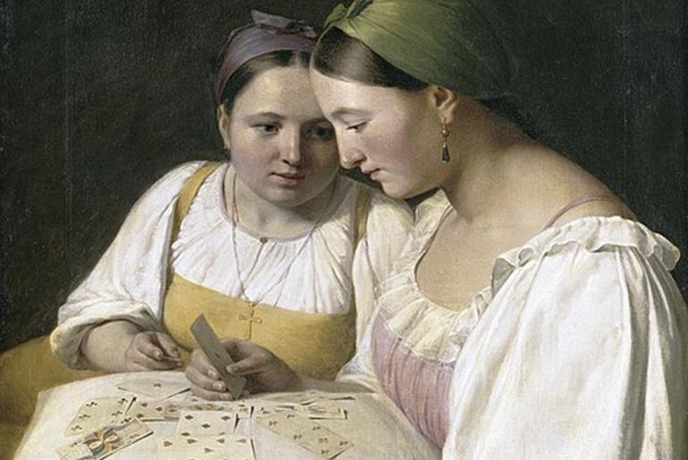 A. Venetsianov: Fortunetelling (1842)