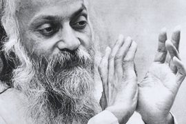 Osho in darshan 1970s