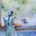 Woman at window by Pratho