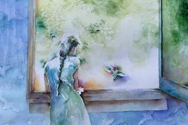 Woman at window by Pratho