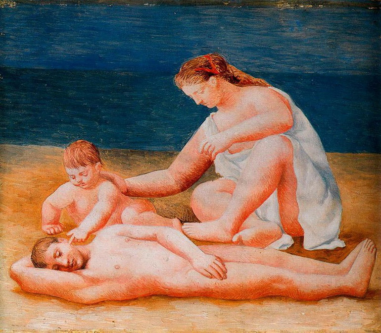 Picasso - Family at the seashore