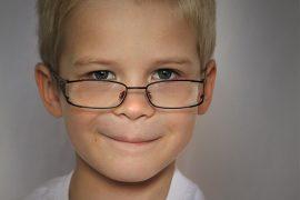 Smart school boy